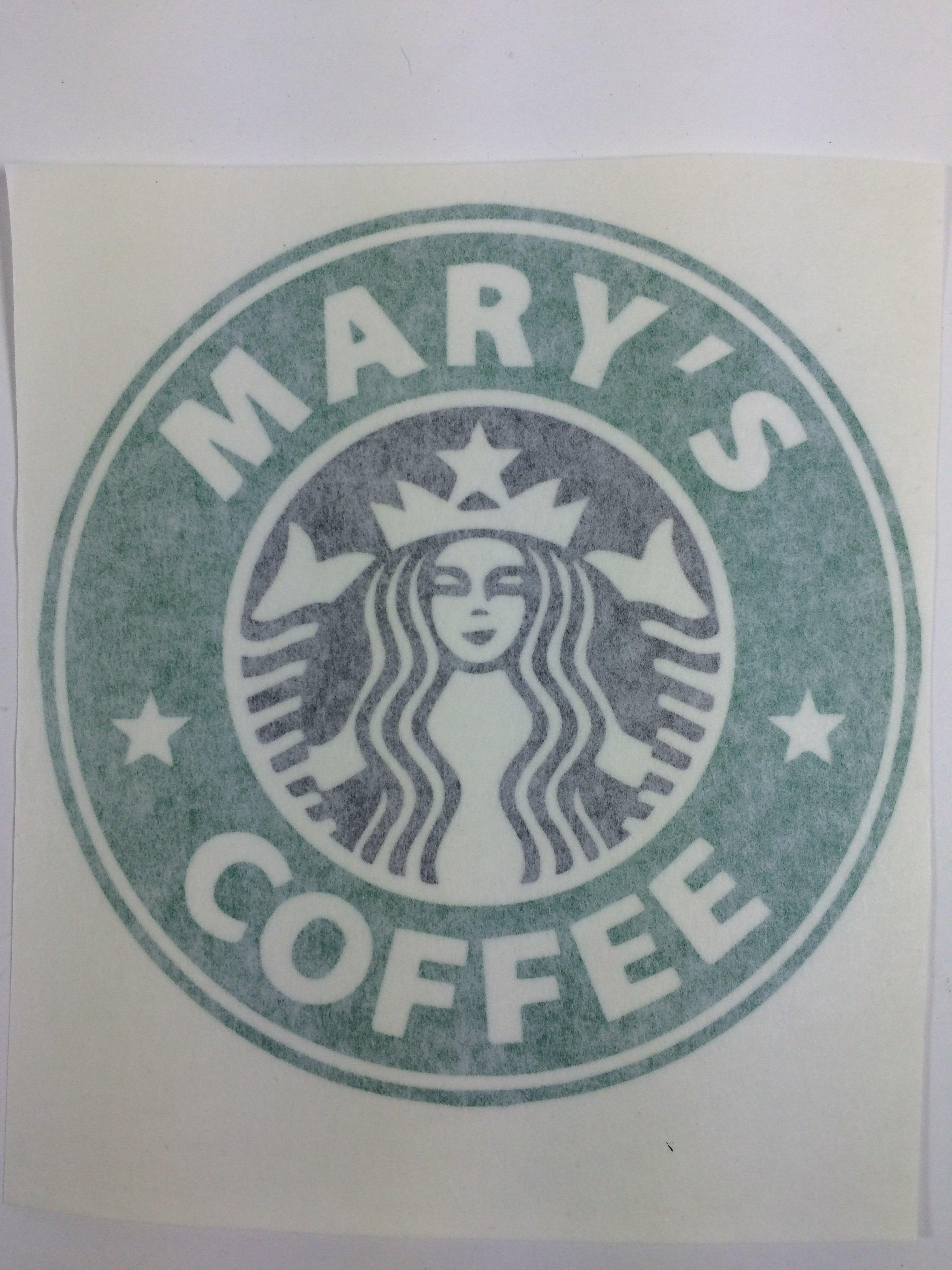 Custom Starbucks Logo Vinyl Decal