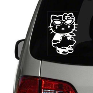 Hello Kitty 50s Outfit Vinyl Decal