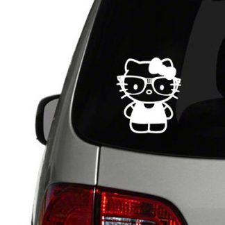 Nerdy Hello Kitty Vinyl Decal