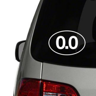 0.0 don't run vinyl decal