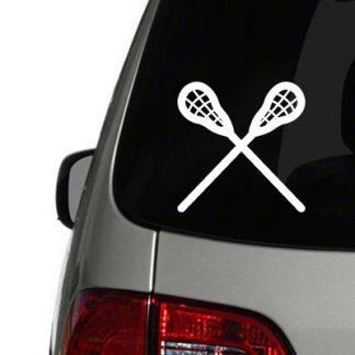 lacrosse symbol vinyl decal