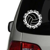 Tribal Volleyball Vinyl Decal