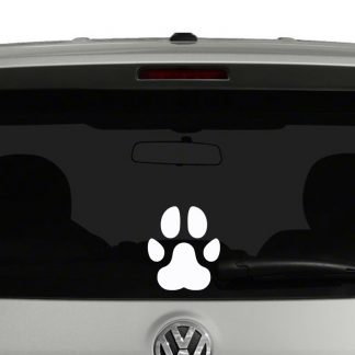 Dog Paw Print Vinyl Decal