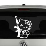Hello Kitty with AK-47 Vinyl Decal