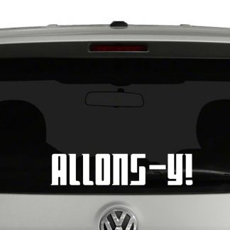 Doctor Who Allons-Y! Vinyl Decal
