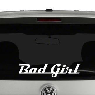Bad Girl Word Art Vinyl Decal