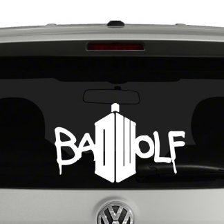 Doctor Who Bad Wolf Vinyl Decal