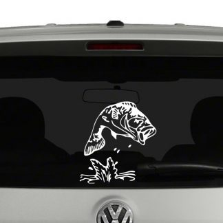 Jumping Bass Fish Vinyl Decal