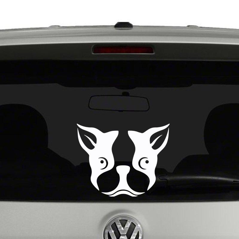 Boston Terrier Face Vinyl Decal