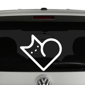Cat heart Shape Vinyl Decal
