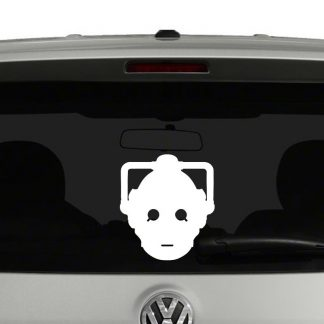 Doctor Who Cyberman Head Vinyl Decal