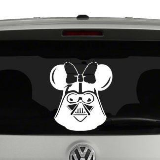Disney Darth Vader Mickey Ears and Bow Vinyl Decal