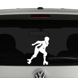 Derby Girl Silhouette Vinyl Decal