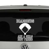 Diamonds are a Girls Best Friend Vinyl Decal