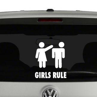 Girls Rule Vinyl Decal