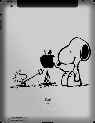 Snoopy and Woodstock iPad-MacBook Vinyl Decal