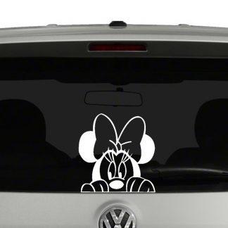 Peeking Minnie Mouse Vinyl Decal