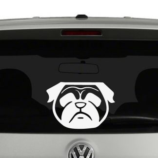 Pug Face Vinyl Decal