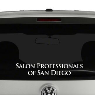 San Diego Salon Professionals Vinyl Decal