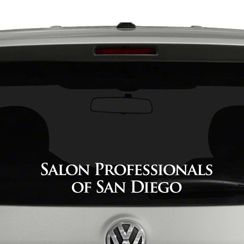 San diego salon professionals vinyl decal for A salon san diego