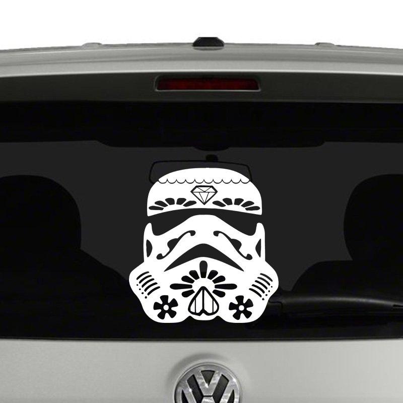 Star Wars Stormtrooper Sugar Skull Vinyl Decal
