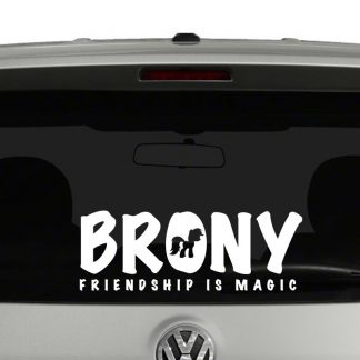My LIttle Pony Brony Vinyl Decal