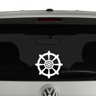 Buddhist Dharma Wheel Vinyl Decal