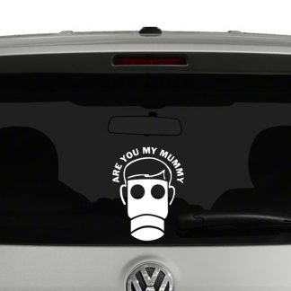 Doctor Who Are You My Mummy Vinyl Decal