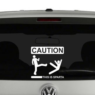Caution This Is Sparta Vinyl Decal