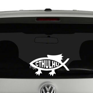 Cthulhu Darwin Fish Vinyl Decal