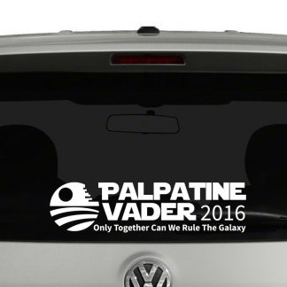 Palpatine Vader 2016 Campaign Vinyl Decal