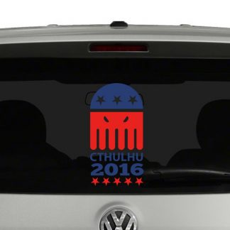 Cthulhu 2016 For President Vinyl Decal 2 Color