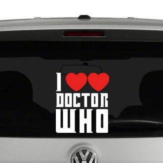 I Love Doctor Who (2 Hearts) Vinyl Decal
