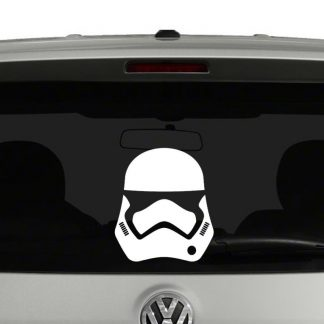 Star Wars Force Awakens Stormtrooper Helmet Vinyl Decal