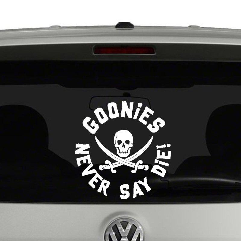 Goonies never say die vinyl decal sticker