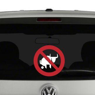 No Bull Sh**ting Vinyl Decal Sticker