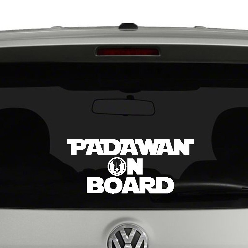 padawan on board vinyl decal