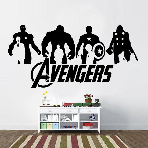 Avengers Silhouette Vinyl Wall Decal
