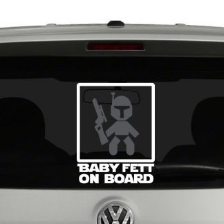 Baby Fett On Board Star Wars Vinyl Decal