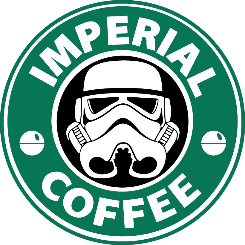 Imperial Coffee Star Wars Stormtrooper Starbucks Vinyl