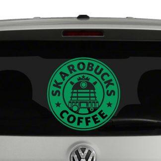 Skarobucks Coffee Doctor Who inspired Daleks Vinyl Decal Sticker