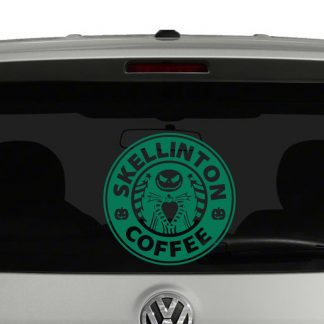 Skellington Coffee Nightmare Before Christmas Starbucks Vinyl Decal Sticker