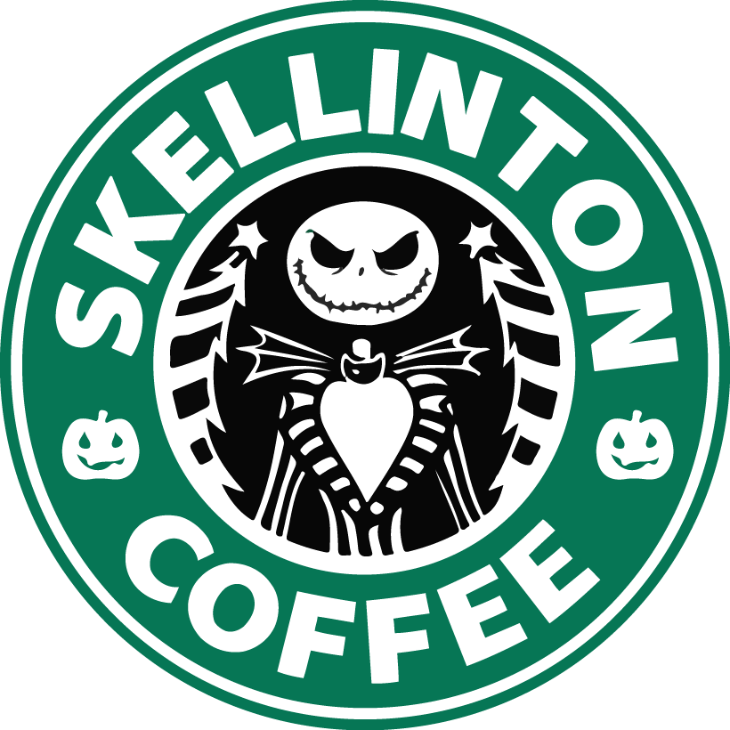 Coffee Nightmare Before Christmas Starbucks Vinyl Decal Sticker