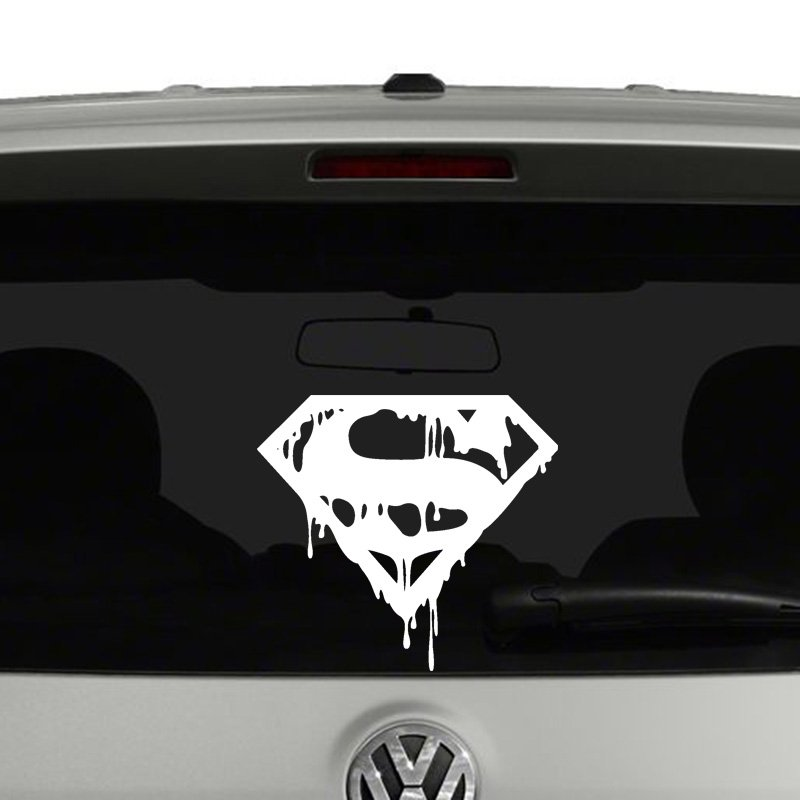 Death of superman symbol vinyl decal sticker