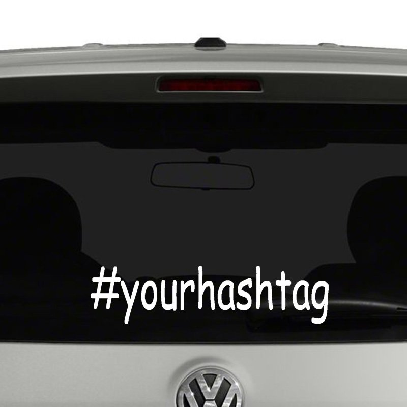 Personalized Hashtag Vinyl Decal Sticker