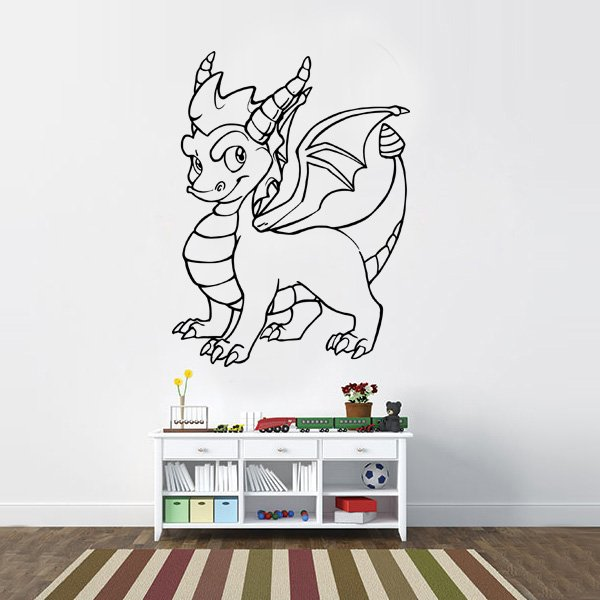 Spyro the Dragon Skylander Inspired Vinyl Wall Decal Sticker