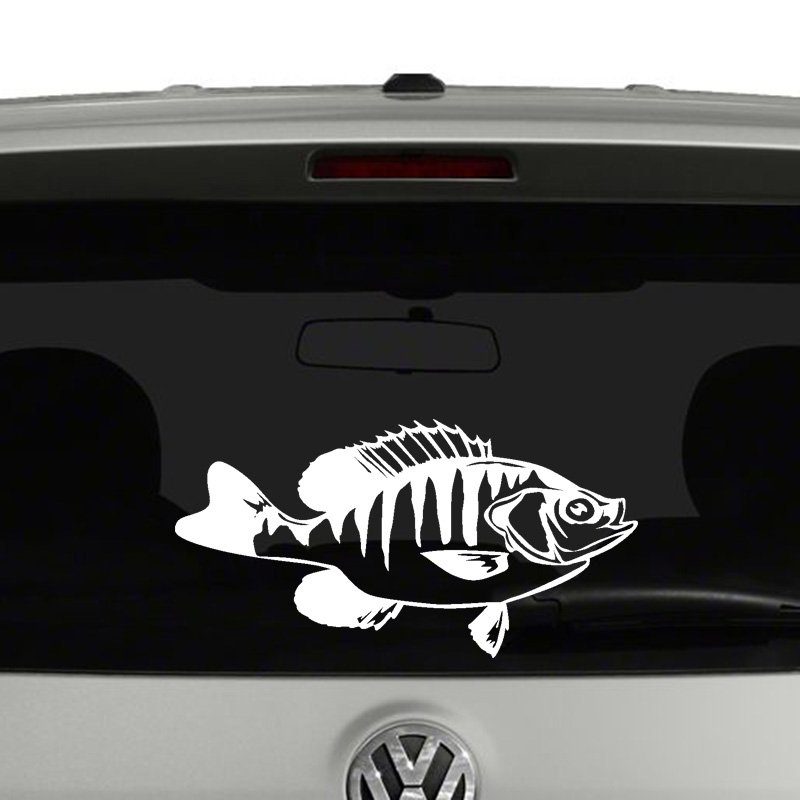 Crappie fish fishing vinyl decal sticker car window for Fishing vinyl decals
