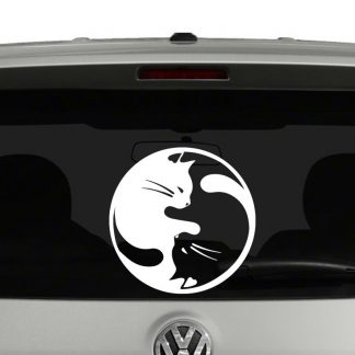 Yin Yang Cats Vinyl Decal Sticker