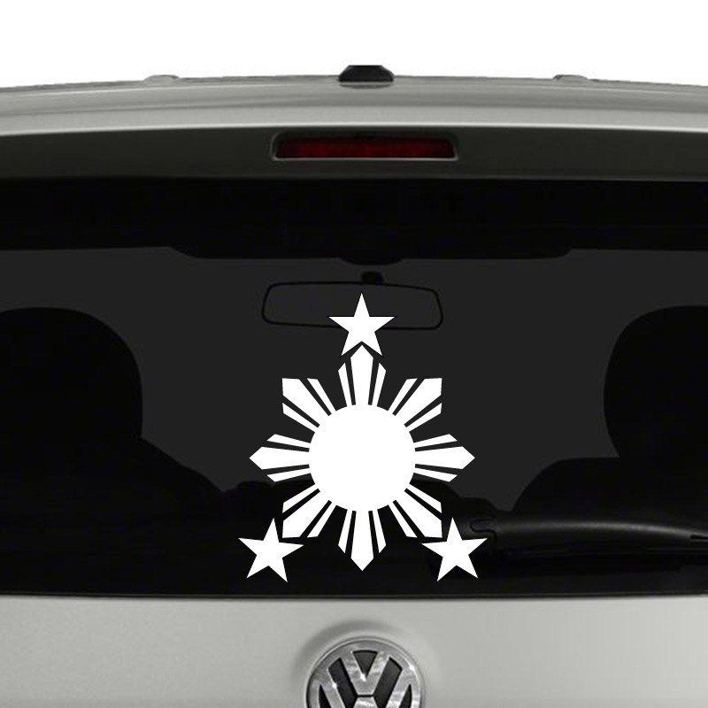 Philippines star sun flag vinyl decal sticker car window