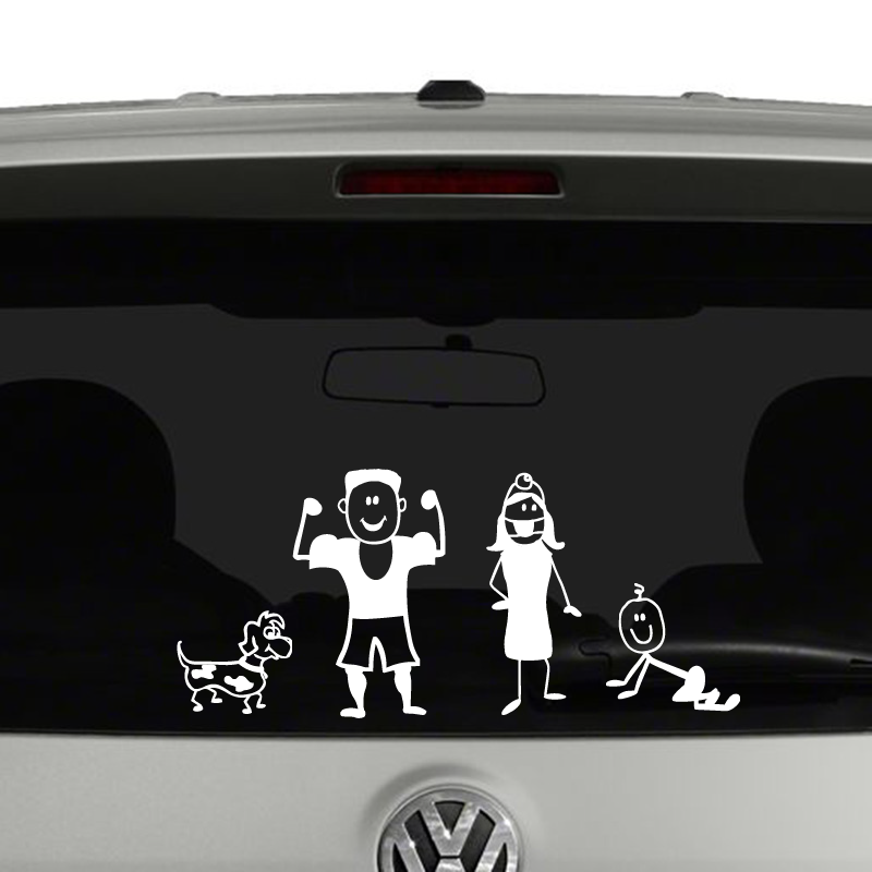 stick figure family create your own vinyl decal sticker